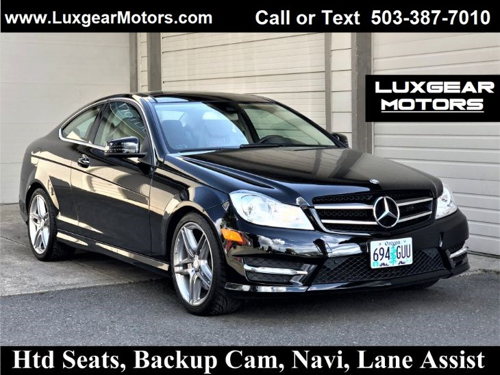 2012 Mercedes-Benz C 350 Coupe, Htd Seats, Pano, Backup Cam