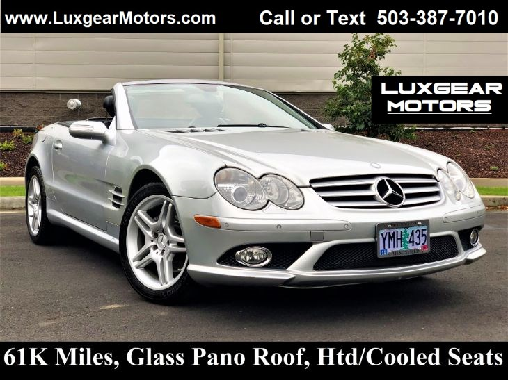 2008 Mercedes-Benz SL550 Htd/Cooled Seats, Glass Pano Roof, Just 61k Miles