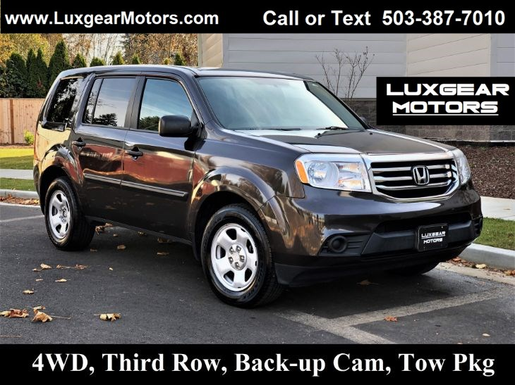 2014 Honda Pilot LX 4WD V6 3.5L Just 55k Miles, Backup Cam, 3rd Row