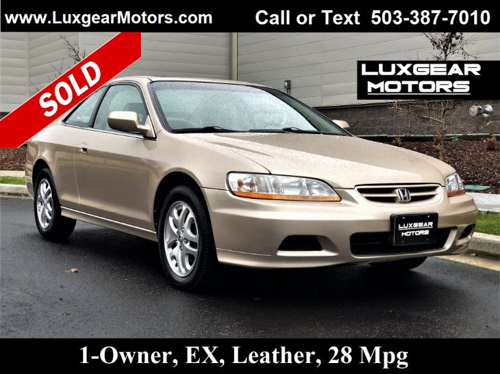 sold 2001 honda accord cpe ex v6 w leather coupe in portland sold 2001 honda accord cpe ex v6 w