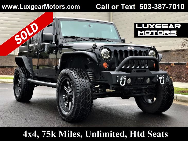 2013 Jeep Wrangler Unlimited SAHARA 4WD, 285hp, 6-Speed, Freedom Top