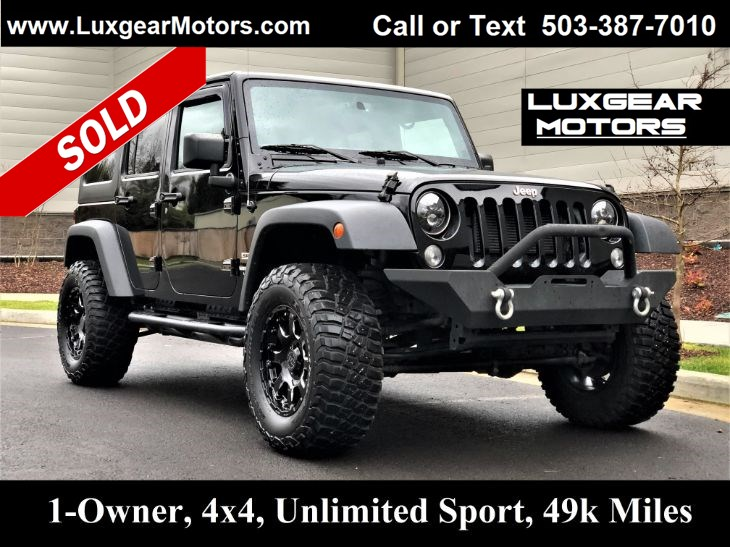2015 Jeep Wrangler Unlimited Sport S SUV 4WD