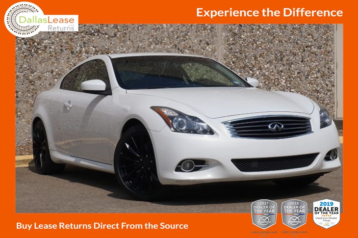 2013 Infiniti G37 Coupe Journey Dallas Lease Returns