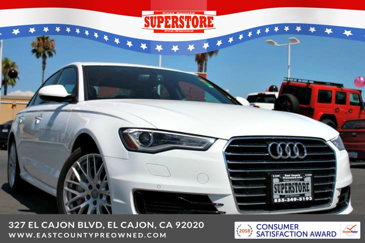 East County Preowned Superstore >> 2016 Audi A6 2 0t Premium Plus Fronttrak East County Pre Owned Superstore