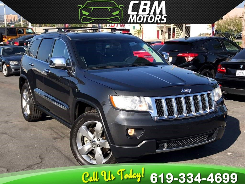 Sold 2011 Jeep Grand Cherokee Overland 4wd W Nav Back Up Camera Pan Moonroof In El Cajon