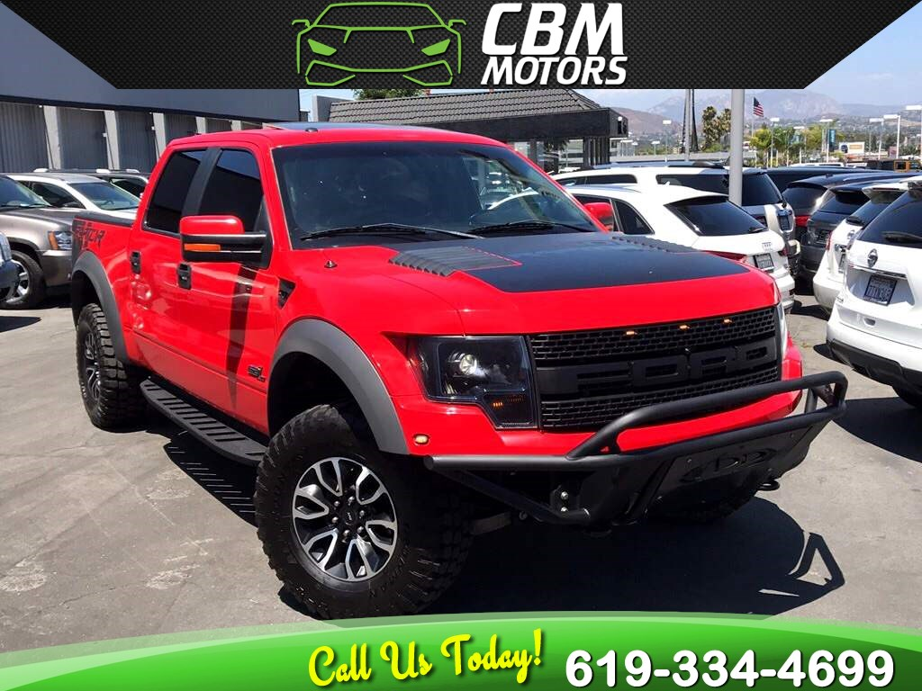 2012 Ford F-150 SVT Raptor 6.2L 4X4 W/ NAV/ BLUETOOTH/ MOONROOF