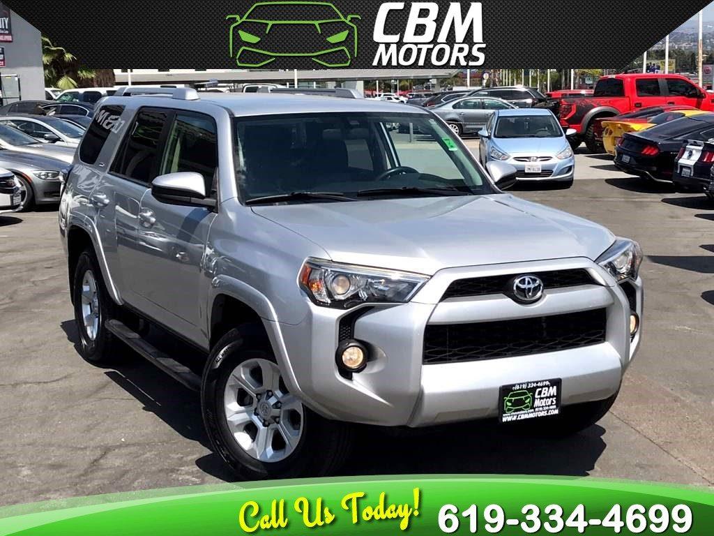Sold 2014 Toyota 4runner Sr5 W Back Up Camera Bluetooth 3rd Row In El Cajon
