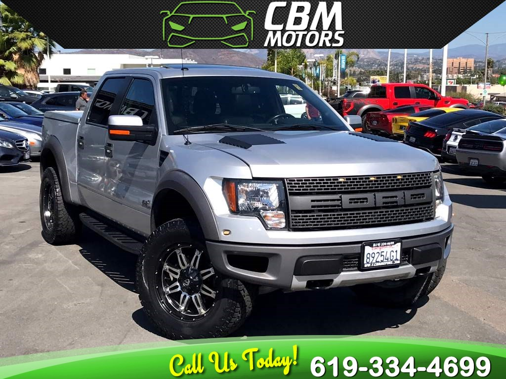 2011 Ford F-150 SVT Raptor 6.2L 4x4 W/ NAV/ BACKUP CAMEA/ MOONROOF