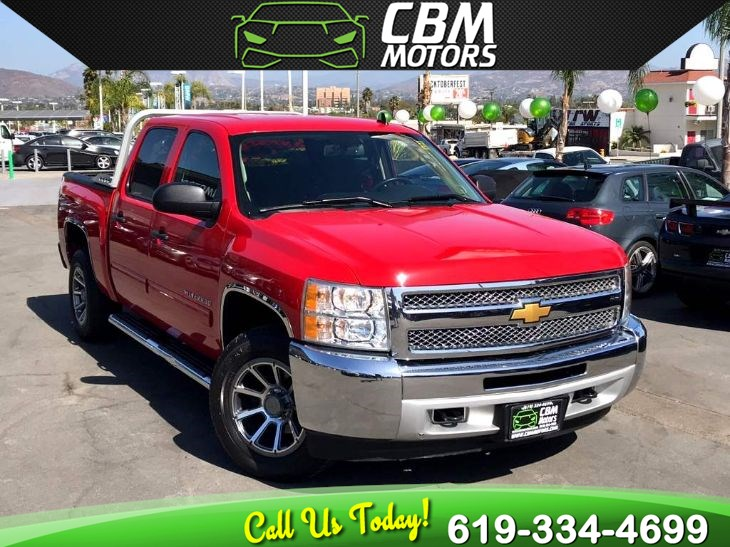 2012 Chevrolet Silverado 1500 LT Z71 4X4 5.3L W/ BACK UP CAMERA/ BLUETOOTH