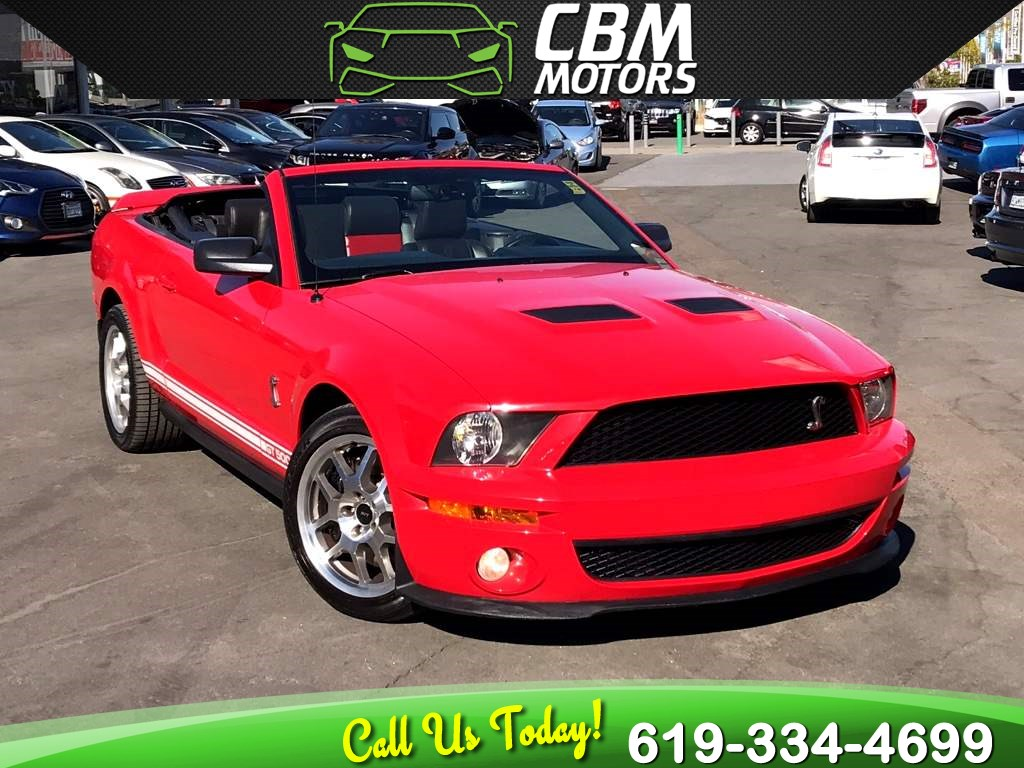 2009 Ford Mustang SHELBY GT500 CONVERTIBLE 6-SPEED MANUAL