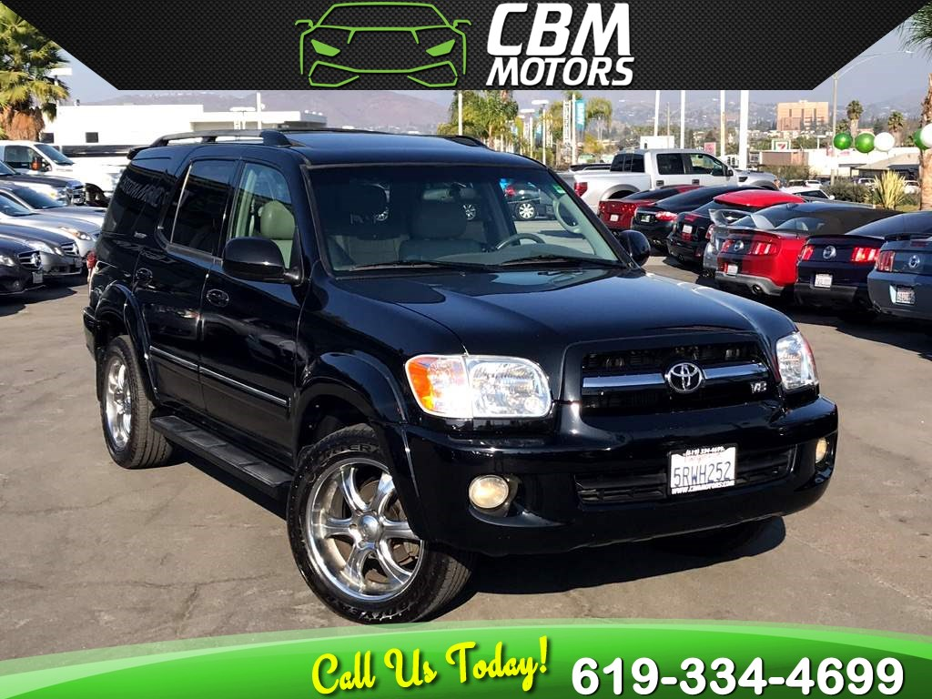 2006 Toyota Sequoia Limited W/ MOONROOF/ DVD/ 3RD ROW