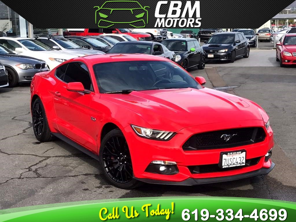 2015 Ford Mustang GT 5.0 6-SPEED MANUAL W/ BACK UP CAMERA/ BLUETOOTH