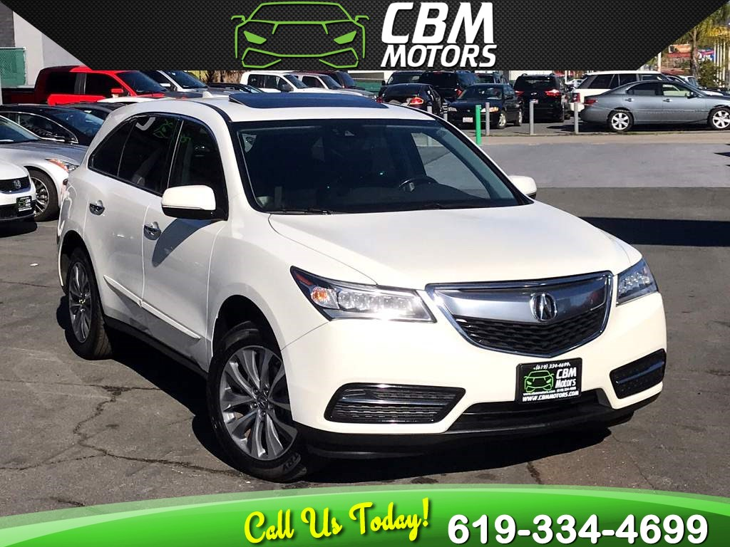 2016 Acura MDX W/ TECH/ MOONROOF/ NAV/ 3RD ROW