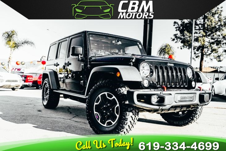2016 Jeep Wrangler Unlimited Rubicon Hard Rock 4WD W/ TARGA ROOF/ 1 OWNER