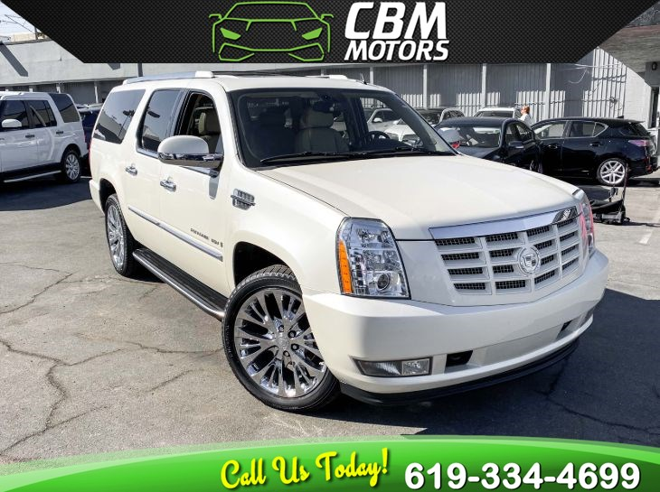 2009 Cadillac Escalade ESV 6.2L AWD W/ MOONROOF/ NAV/ 3RD ROW/ LOW MILES
