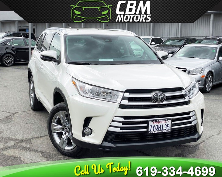 2017 Toyota Highlander XLE W/ NAV/ MOONROOF/ 3RD ROW/ DVD