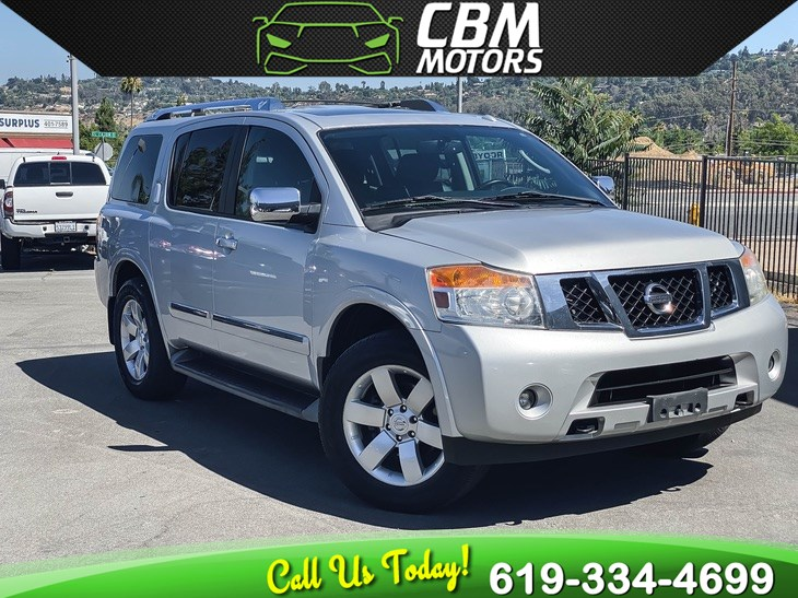 2012 Nissan Armada SL 4WD W/ MOONROOF/ BACK UP CAMERA/ DVD/ 3RD ROW