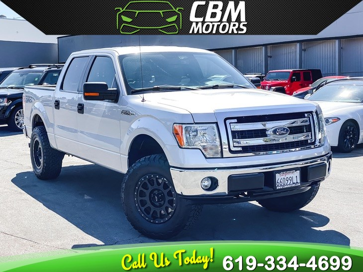 2014 Ford F-150 XLT 4X4 5.0L SUPER CREW W/ BLUETOOTH/ CLEAN CARFAX