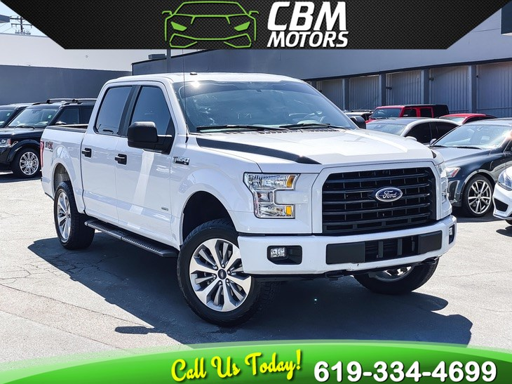 2017 Ford F-150 XL STX 4X4 ECOBOOST W/ BACK UP CAMERA/ BLUETOOTH