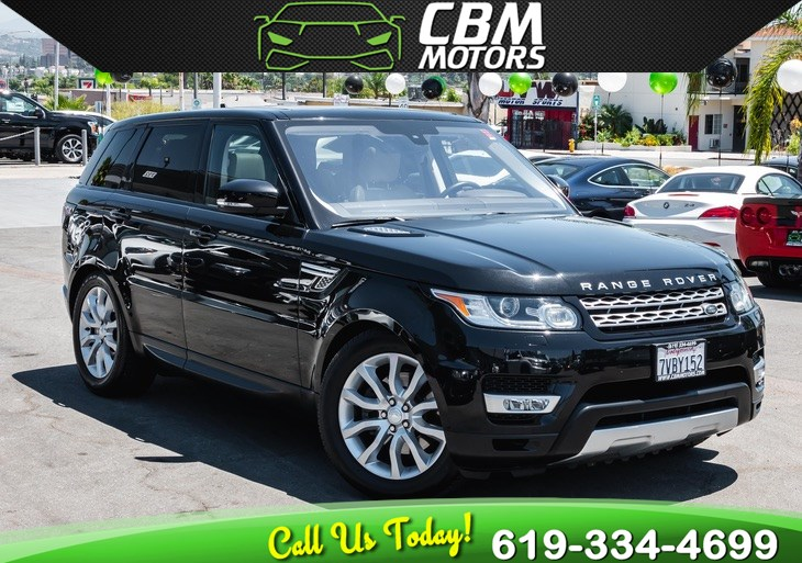 2016 Land Rover Range Rover Sport HSE SUPERCHARGED AWD W/ PAN MOONROOF/ NAV