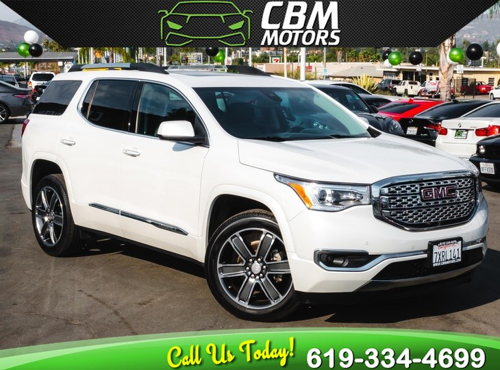 2017 GMC Acadia Denali W/ TECH PKG PAN MOONROOF 3RD ROW
