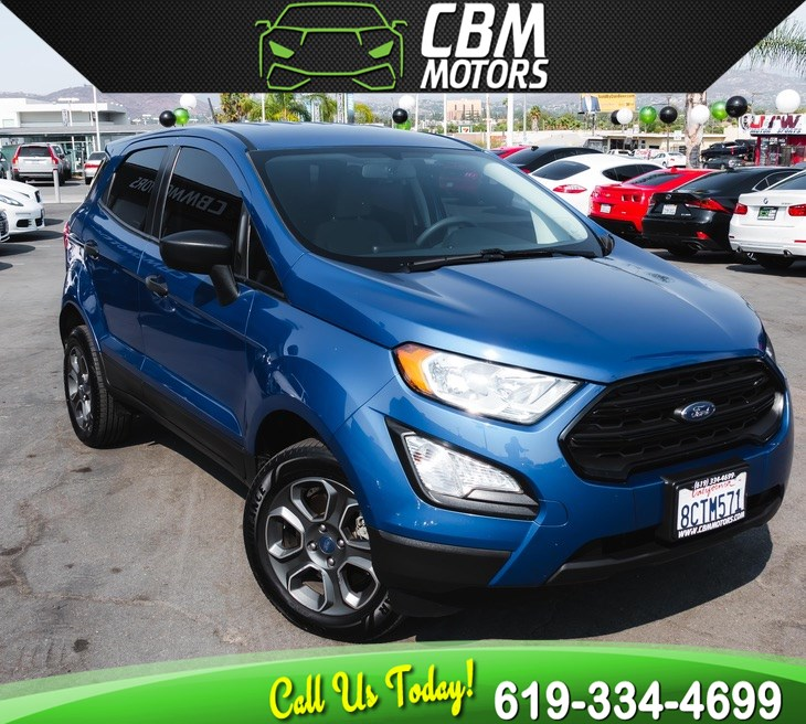 2018 Ford EcoSport S AWD W/ BACK UP CAMERA/ BLUETOOTH