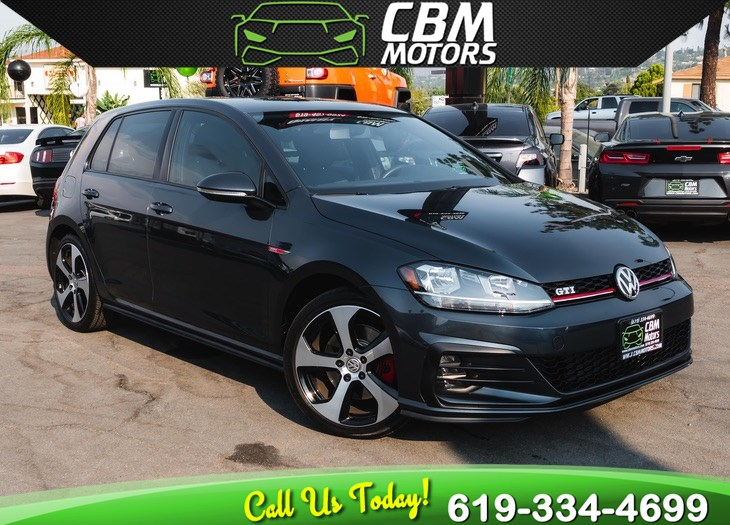 2018 Volkswagen Golf GTI S TURBOCHARGED W/ BACK UP CAMERA/ LOW MILES