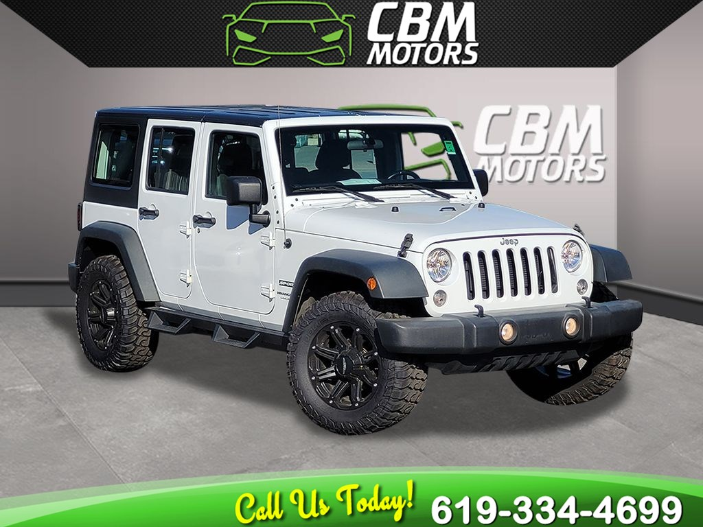 2018 Jeep Wrangler JK Unlimited Sport 4X4 W/ TARGA ROOF