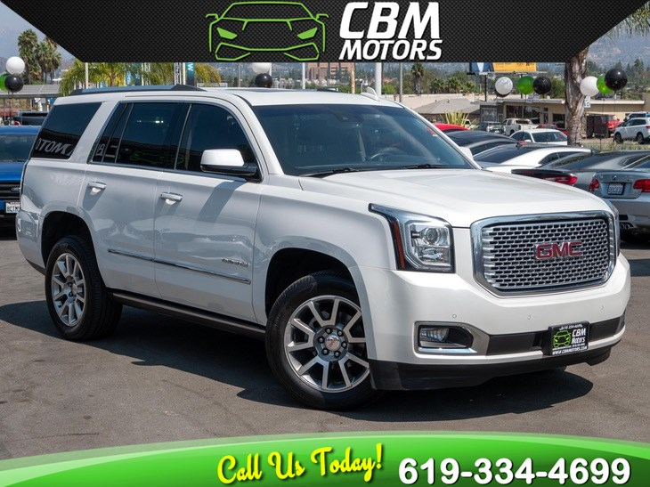 2017 GMC Yukon Denali 4WD 6.2L W/ MOONROOF/ NAV/ BACK UP CAMERA/ 3RD ROW