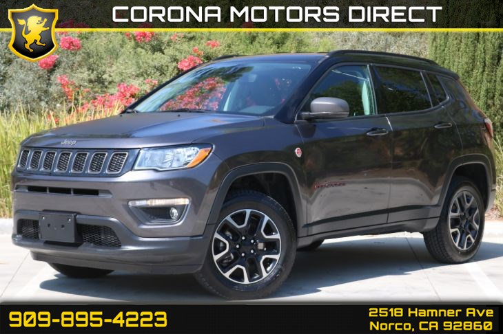 2019 Jeep Compass Trailhawk 4x4 (W/ Back-up Camera & Bluetooth)