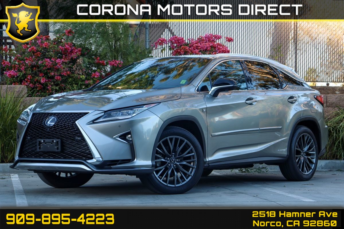 2017 Lexus RX 450h (W/Red Leather Seats & F-Sport Pkg)