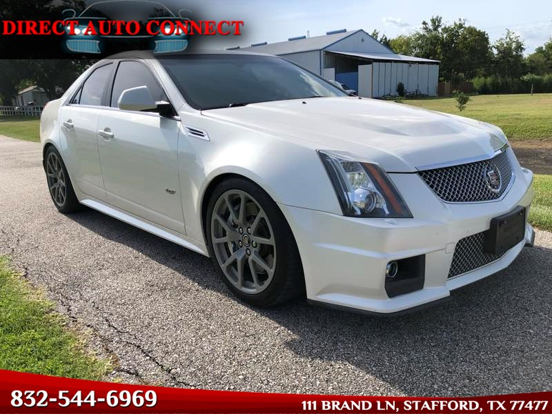 2009 Cadillac CTS-V Navigation Panoramic Sunroof White Diamond Tricoat 6SPD Manual CLEAN