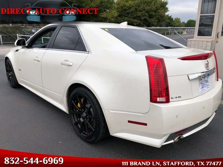 2012 Cadillac CTS-V Sedan Beautiful Diamond White. Loaded. Recaro. 100%Stock