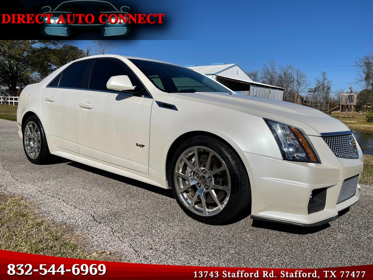 2011 Cadillac CTS-V Sedan RARE 1 Owner 1 of 9 Made. Black Recaros Light Mods