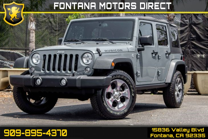 2015 Jeep Wrangler Unlimited Rubicon (Connectivity Group & Max Tow Package)