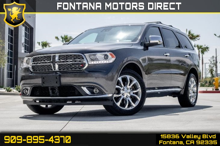 2017 Dodge Durango (Citadel Package & PREMIUM ENTERTAINMENT Package)