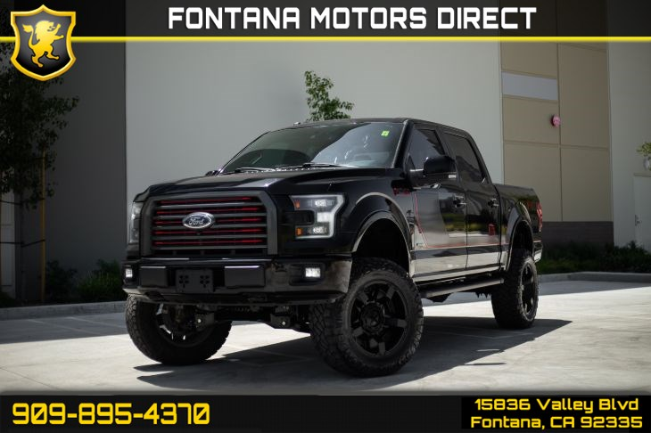 2017 Ford F-150 Lariat (Sport PKG, Lifted FOX Shocks, Pano Roof)