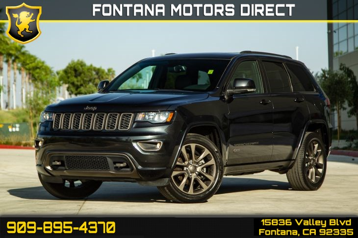 2016 Jeep Grand Cherokee Limited 75th Anniversary (Sunroof & Backup Camera)