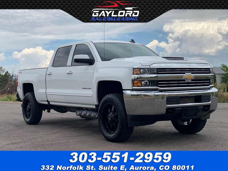 2018 Chevrolet Silverado 2500HD Crew Cab Short Bed LT 4X4 Duramax Diesel  Leveled - Gaylord Sales & Leasing Co