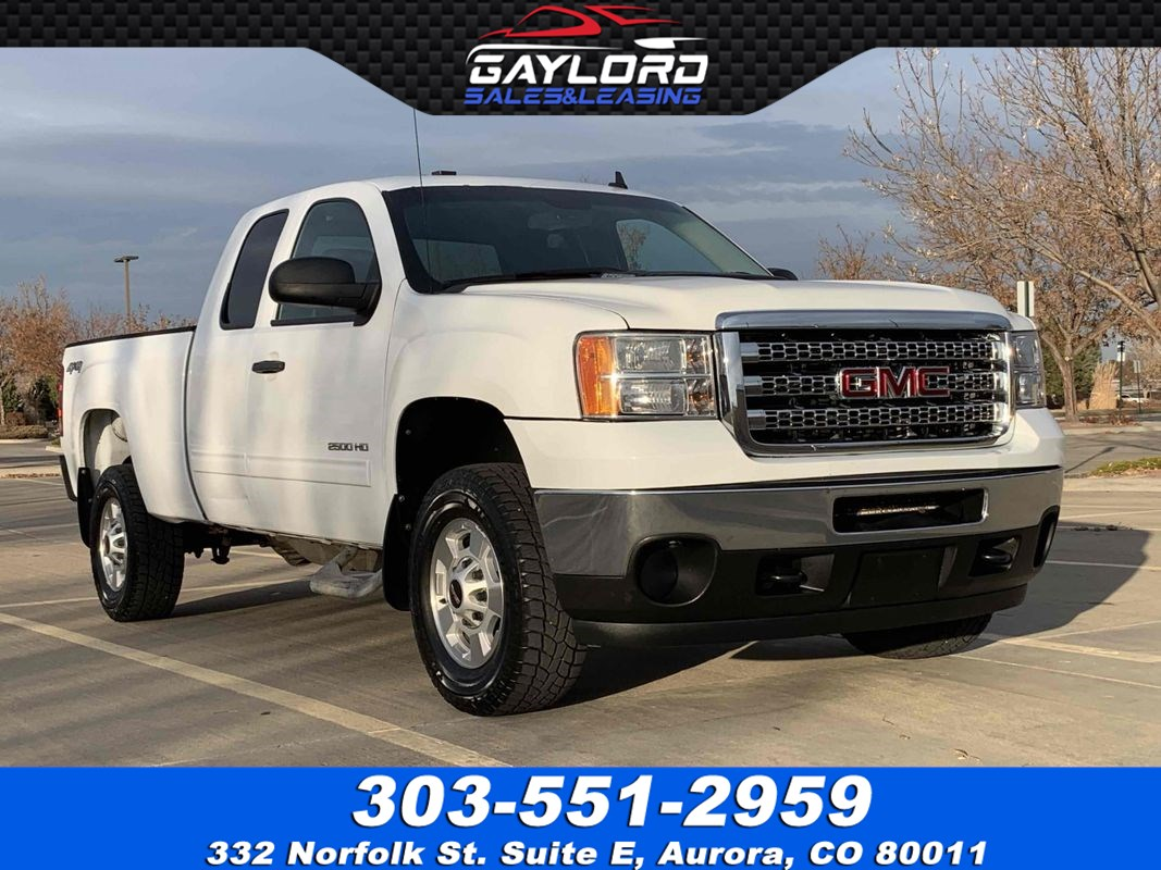 2012 GMC Sierra 2500HD SLE Extended Cab  Short Bed 4X4 6.0L V8