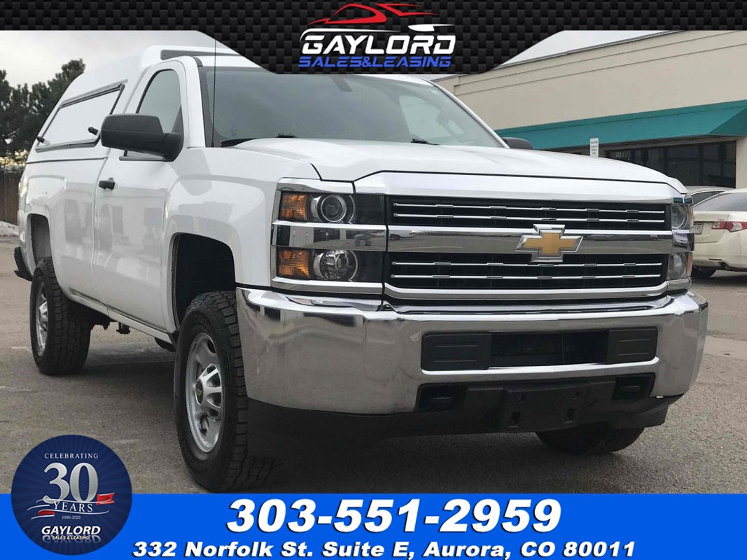 2015 Chevrolet Silverado 2500HD Standard Cab Long Bed 4X4 6.0L V8