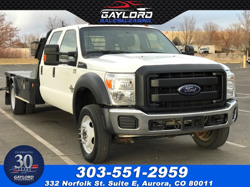 2016 Ford Super Duty F-450 Crew Cab Flat Bed Dually 4X4 6.7L Powerstroke Diesel