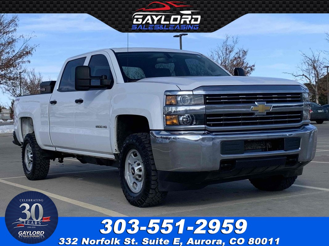 2015 Chevrolet Silverado 2500HD Crew Cab Short Bed 4X4 6.0L V8