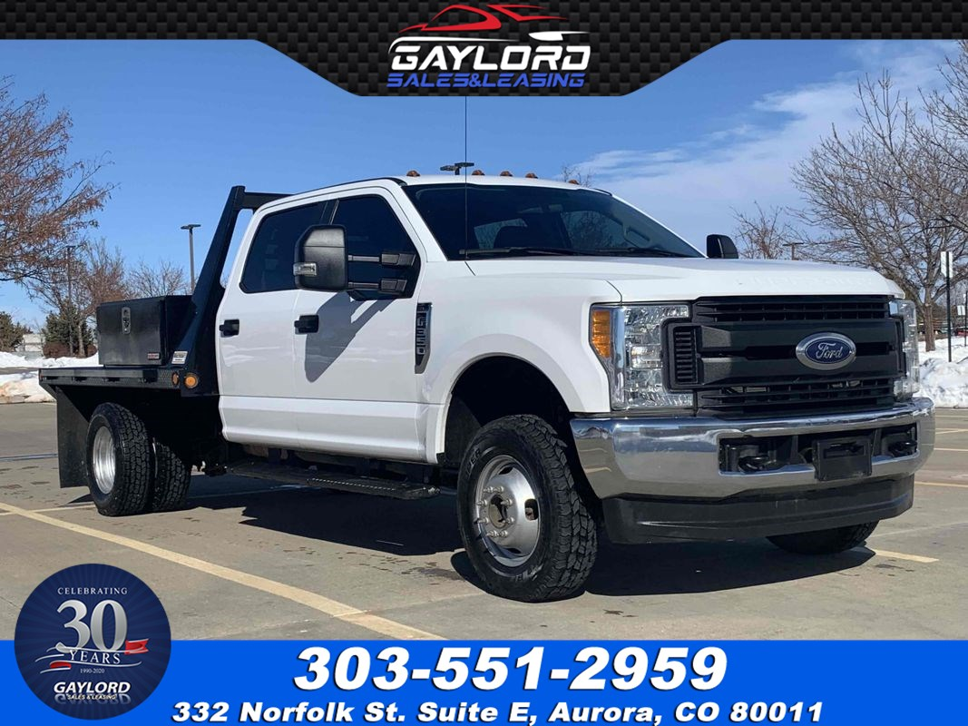 "2017 Ford Super Duty F-350 Dually Crew Cab Flat Bed XL 60"" Cab To Axle 4X4 6.2L V8"