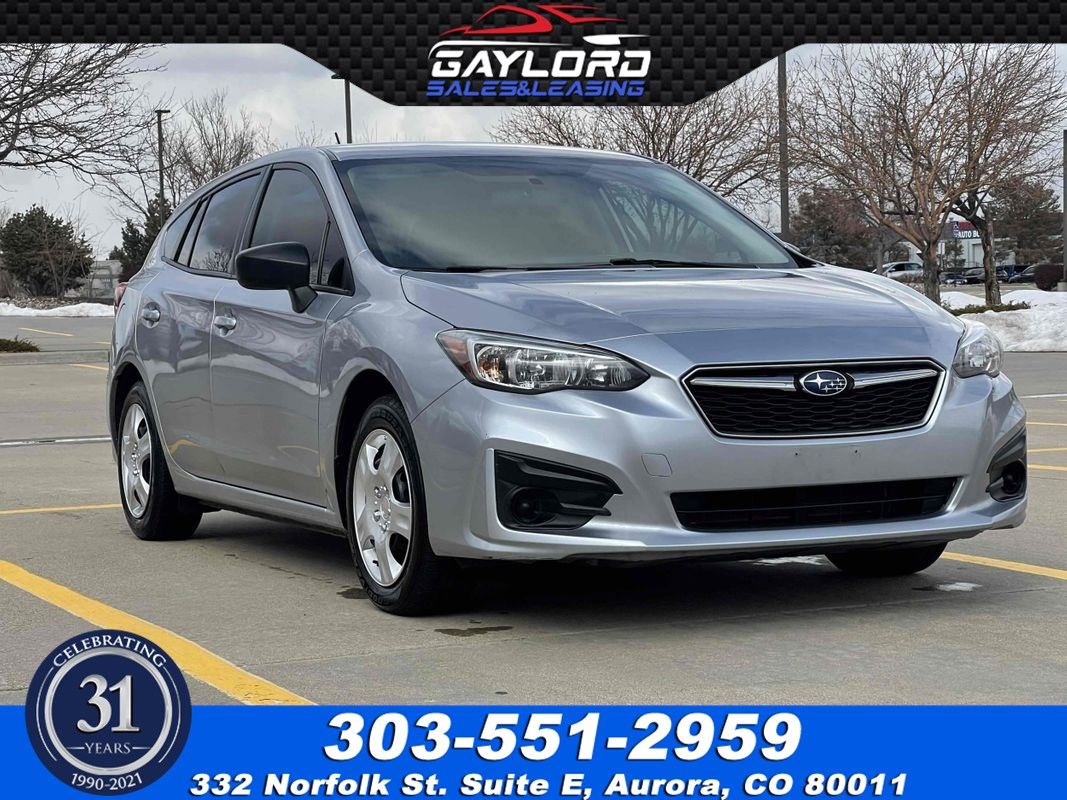 2017 Subaru Impreza Hatchback All Wheel Drive 2.0L 4Cyl