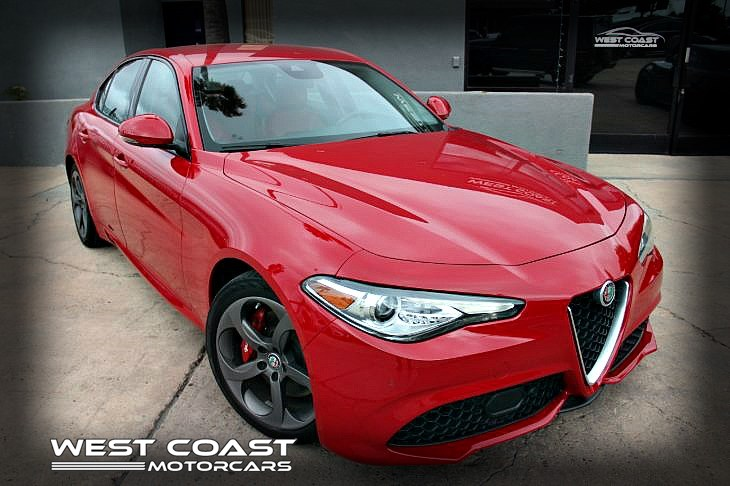 2017 Alfa Romeo Giulia Turbo LUXURY SPORT PKG *1 OWNER DRIVER ASSIST PKG *RARE COLOR COMBO RED/RED LOADED