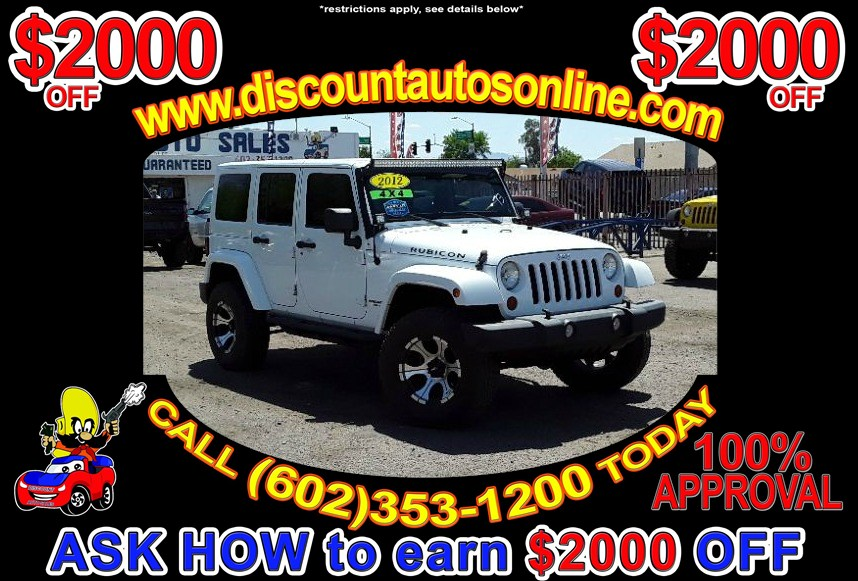 2012 Jeep Wrangler Unlimited Rubicon 4WD 4X4
