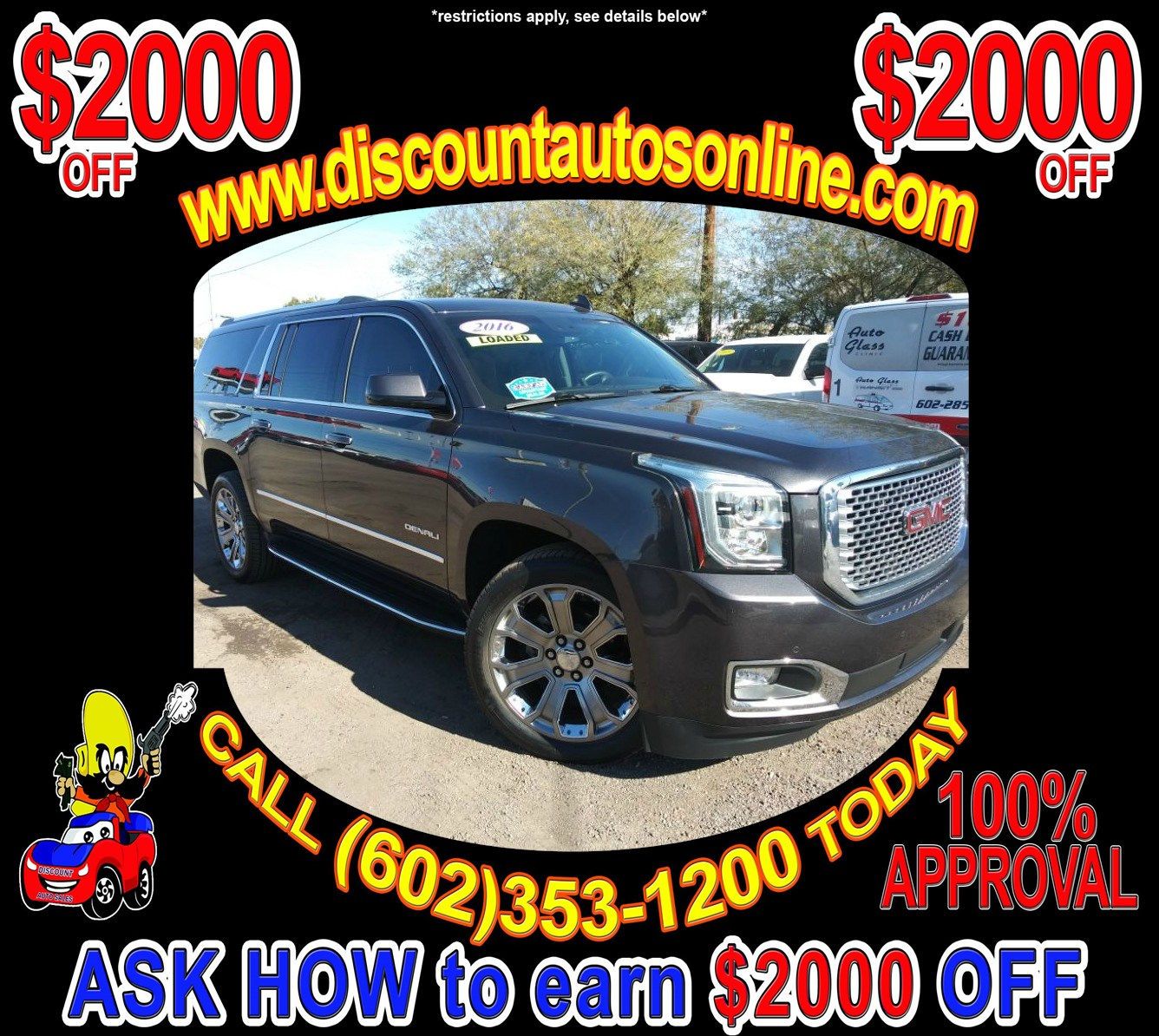 2016 GMC Yukon XL 4WD 4X4 Leather SUV Denali