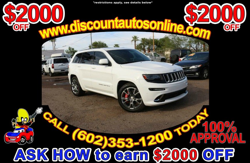 2014 Jeep Grand Cherokee SUV 4WD 4X4 Leather SRT8 - Discount Auto Sales