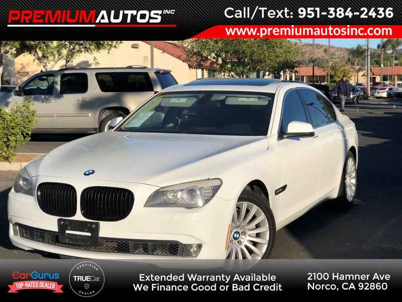 used 2012 bmw 7 series 750i - alpine white - v8 400hp in norco